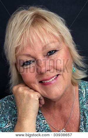 Mature Blonde Woman, Headshot