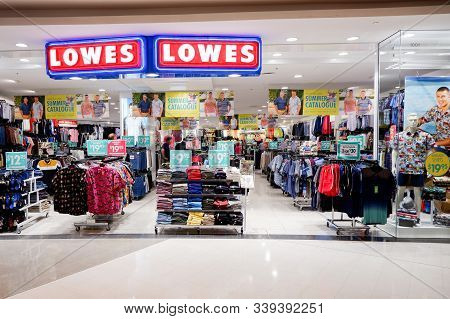 Sydney, Australia 2019-10-24 Entrance To Lowes Store. Lowes Menswear Also Currently Known As Lowes M