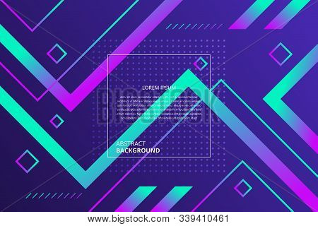 Abstract Modern Gradient  Lines Geometric Pattern Background.  It Is Suitable For Various Types Of D