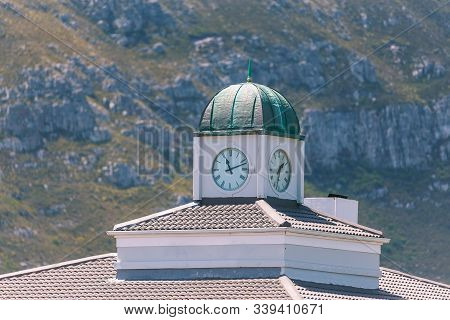 Roof Of Old Building With Clocktower In Hermanus, South Africa
