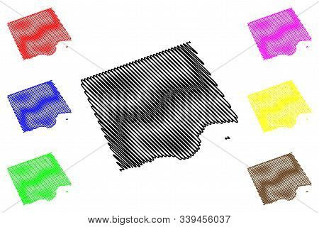 Dhofar Governorate (sultanate Of Oman, Governorates Of Oman) Map Vector Illustration, Scribble Sketc
