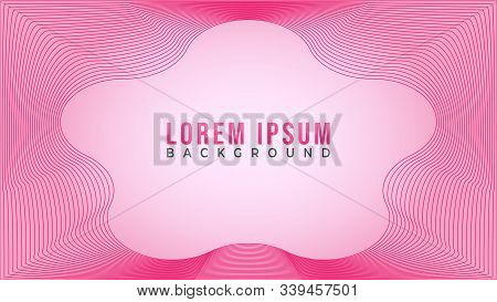 Abstract Wave Line Background Design Template, Lovable Pinky Frame Concept, Blend Effect Design, Spe