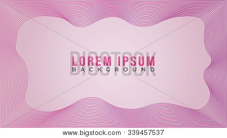 Lovable Pinky Spectrum Frame Concept, Abstract Pink Wave Line Background Design Template, Abstract B