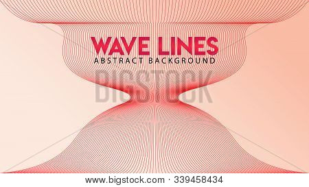 Abstract Explosion Wave Line Background Design Template, Abstract Blend Design Vector, Beautiful Rad