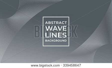 Monochrome Abstract Wave Line Background Design Template, Abstract Blend Design Vector, Beautiful Ba