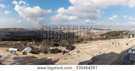 Jerusalem, Israel, December 07, 2019 : View From The Roof Of A Mosque Standing On The Tomb Of The Pr