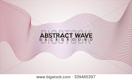 Light Pink Abstract Wave Line Background Design Template, Abstract Blend Design Vector, Beautiful Wa