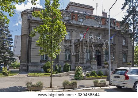 Nis, Serbia - June 15, 2019:  Town Hall Of City Of Nis, Serbia