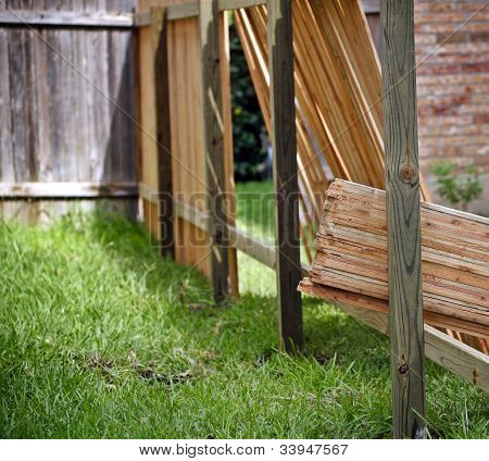 Building new fence