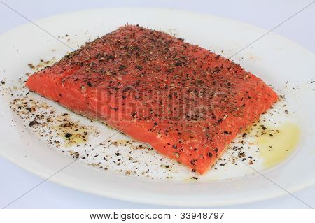 Seasoned Salmon Steak