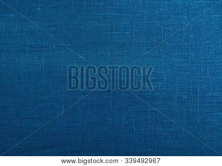 Classic Blue Fabric Blank Canvas, Cotton Or Linen Texture, 2020 Fabric Trendy Color Swatch For Cloth