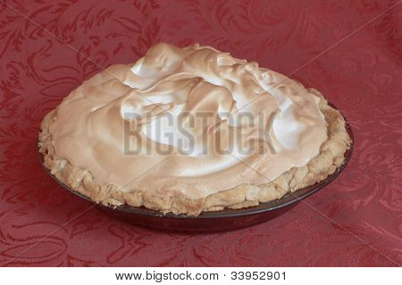 Sideview Of Meringue Pie