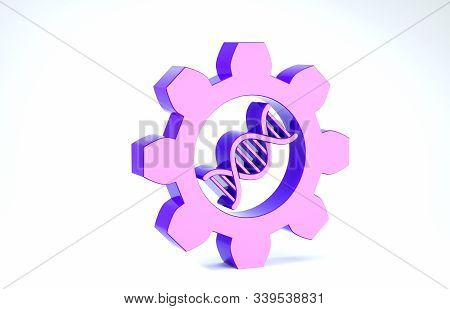 Purple Genetic Engineering Icon Isolated On White Background. Dna Analysis, Genetics Testing, Clonin