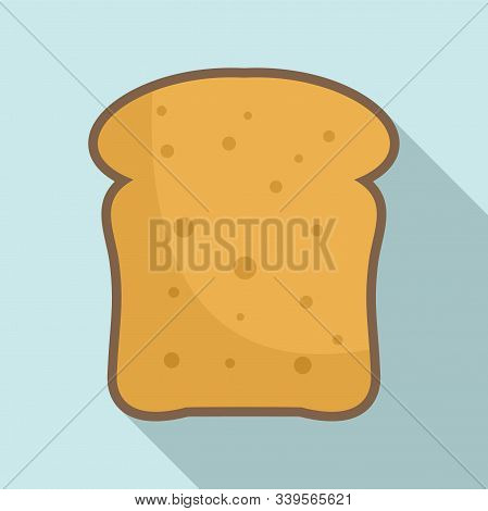 French Toast Icon. Flat Illustration Of French Toast Vector Icon For Web Design