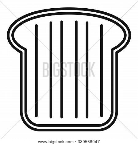 Nutrition Toast Icon. Outline Nutrition Toast Vector Icon For Web Design Isolated On White Backgroun