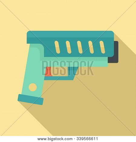 Combat Blaster Icon. Flat Illustration Of Combat Blaster Vector Icon For Web Design