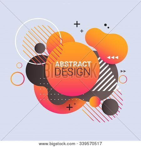 Dynamical Colored Form Gradient Abstract Banner Flowing Liquid Shape Fluid Color Badge Modern Graphi