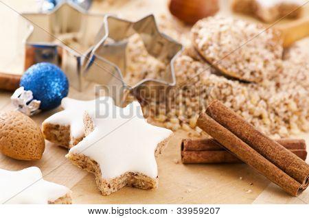 Zimtstern christmas cookies poster
