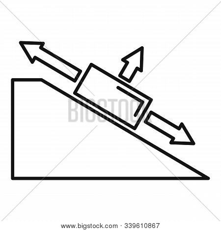 Angle Object Physics Icon. Outline Angle Object Physics Vector Icon For Web Design Isolated On White