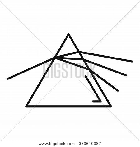Pyramide Light Refraction Icon. Outline Pyramide Light Refraction Vector Icon For Web Design Isolate