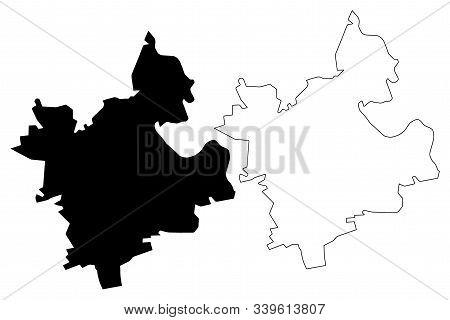 Anenii Noi District (republic Of Moldova, Administrative Divisions Of Moldova) Map Vector Illustrati
