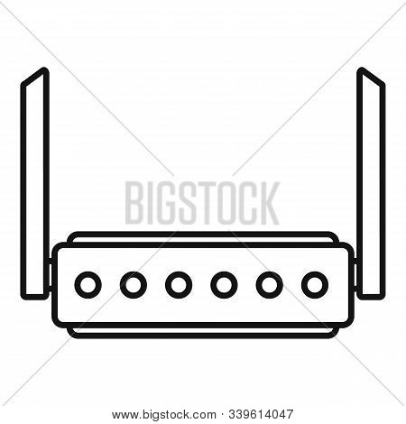 Broadband Router Icon. Outline Broadband Router Vector Icon For Web Design Isolated On White Backgro