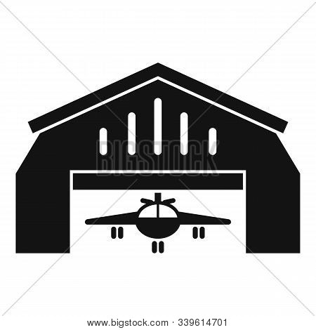 Aerodrome Hangar Icon. Simple Illustration Of Aerodrome Hangar Vector Icon For Web Design Isolated O