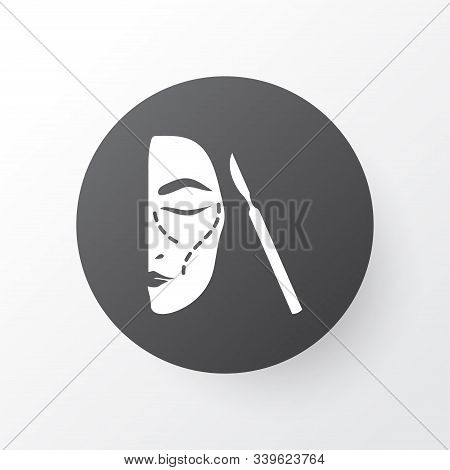 Face Surgery Icon Symbol. Premium Quality Isolated Aesthetic Element In Trendy Style.