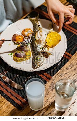 Turkish Bluefish With Raki / Lufer Fish