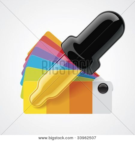 Vector color picker icon
