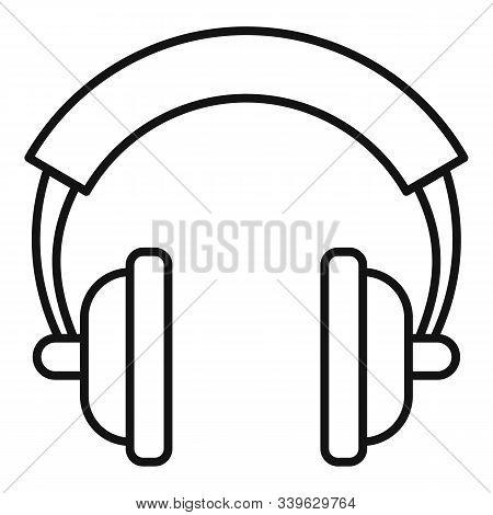 Dj Headphones Icon. Outline Dj Headphones Vector Icon For Web Design Isolated On White Background