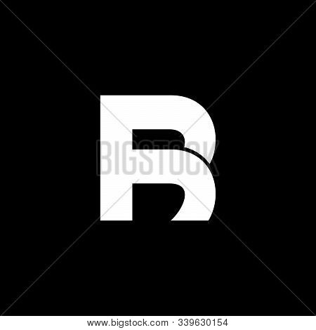 Abstract Letter Br Simple Linked Line Logo Vector