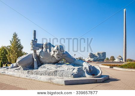 Brest, Belarus - Octouber 2, 2017: Brest Fortress, A Reference To Courage And Bravery During The Sec