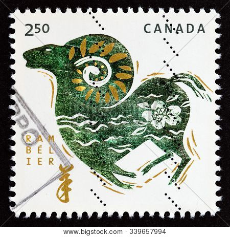 Canada - Circa 2015: A Stamp Printed In Canada From The
