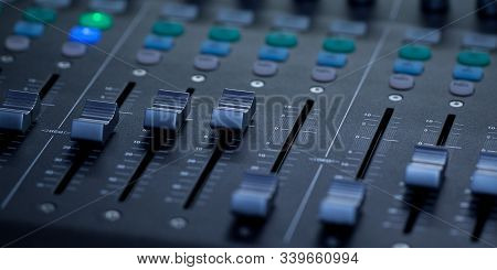 Sound Mixing Console For Sound Level Control