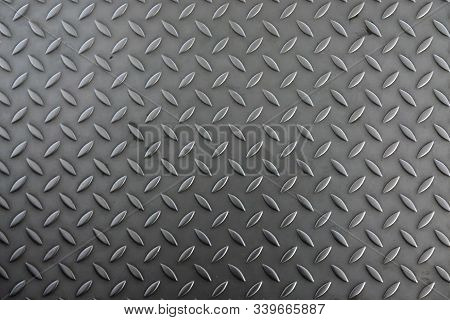 Corrugated Metal Sheet For The Floor. The Color Is Silver Gray. The Structure Of The Sheet Is Worn B