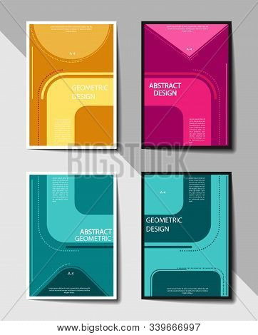 Editable Cover Design, A4 Format. Abstract Background For Cover Design, Screensaver, For Application