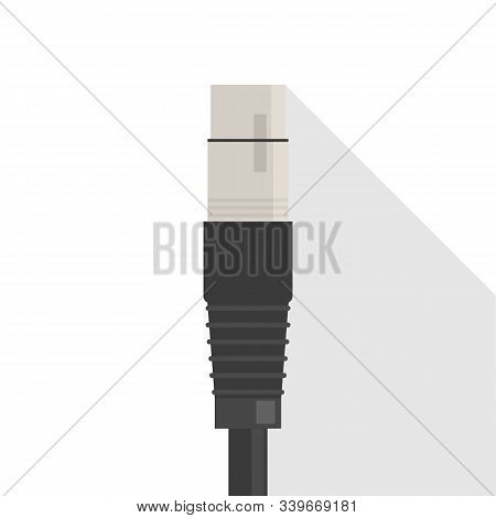Xlr Cable Vector Isolated. Audio Connector, Equipment
