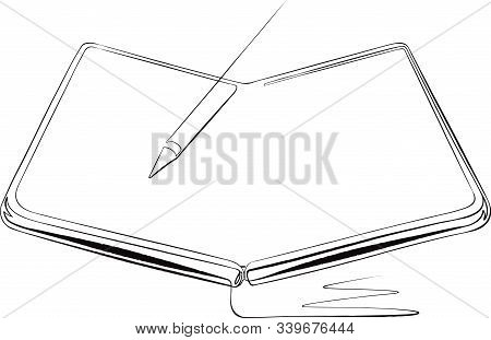 Foldable Smartphone - Tablet And Pen - Stylus Concept Illustration
