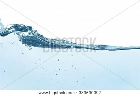 Beautiful Clear Water Splash Isolated On White