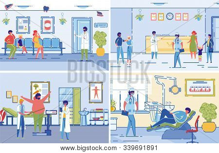 Dieticians Or Nutritionists Specialists In Healthcare Clinic Interiors Accepting Visitors. Medical A