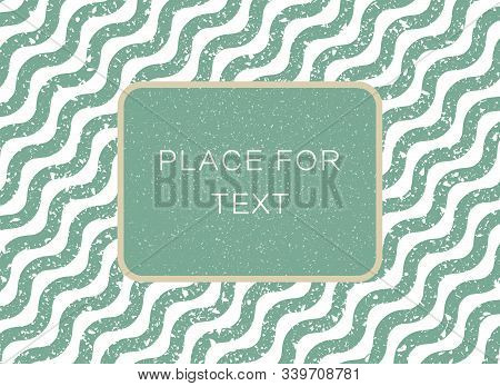 Abstract Wave Striped Lines. Embossed Wave Grunge Old Worn Effect. Vector Illustration Template, Bac
