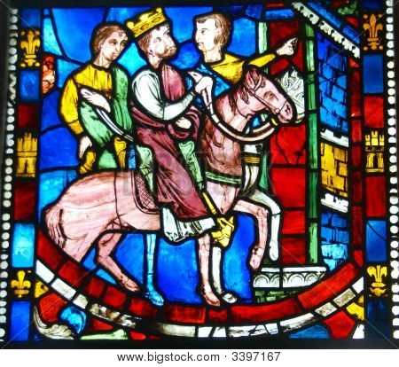 Stained Glass,King On Horseback