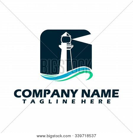 Lighthouse Logo, Lighthouse Icon In Trendy Design Style. Lighthouse Icon Isolated On White Backgroun