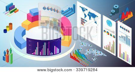 Various visualisation at trading environment - 3d rendering