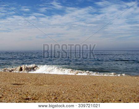 Crashing Ocean Waves On Beach Monterey Bay California