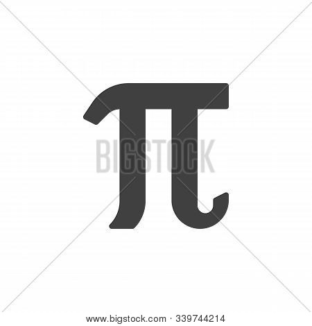 Mathematical Value Pi Vector Icon. Filled Flat Sign For Mobile Concept And Web Design. Pi Greek Lett