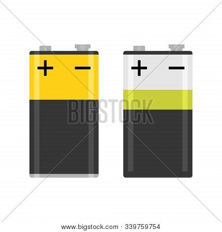 Alkaline Pp3 Battery Flat Colorful Vector Isolated Illustration