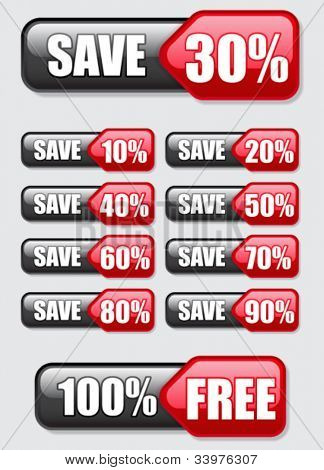 Save, free, Discount banners / Labels