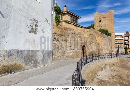 Historic Ferro Tower In The Center Of Guadix, Spain